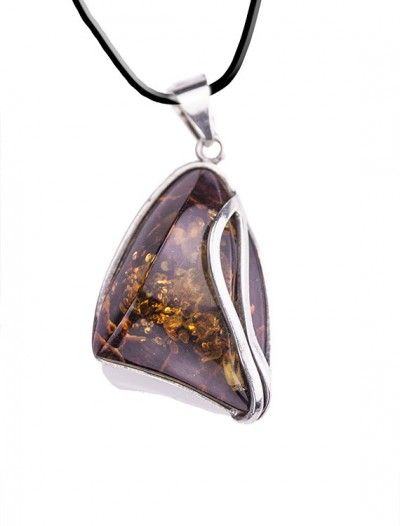 Silver & Amber Pendant - Available at Onyx Goldsmiths