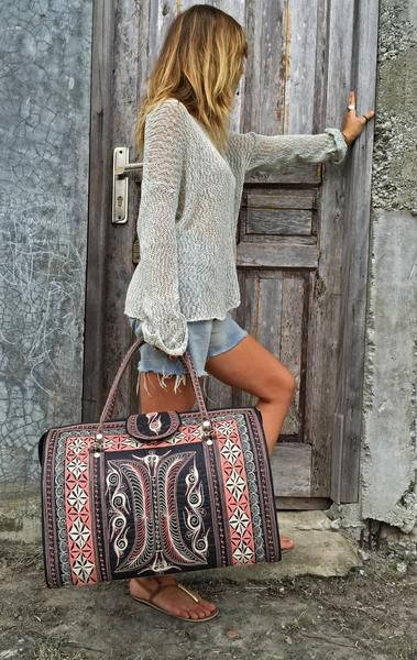 The Weekender Bag, just as the name implies, this bag is perfect for a weekend getaway. Take it on the plane as your carry-on and turn heads!