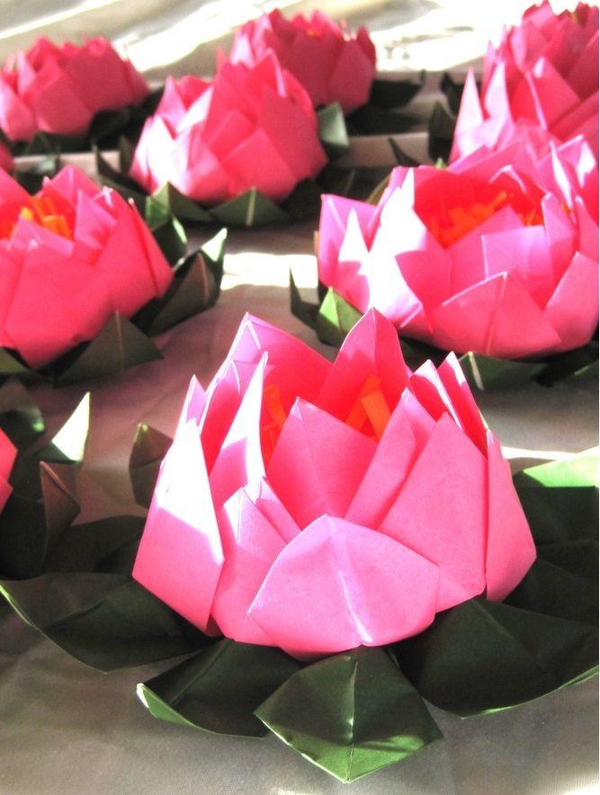 Origami Lotus Flowers /Water Lilies