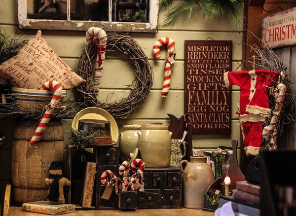 primitive country booth christmas displays craft stores booths