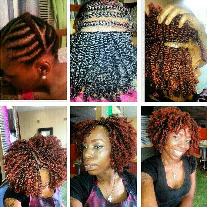 Yes I do my own hair by me crochet nubian twist Ella