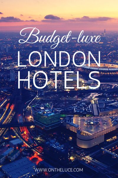 Budget-luxe London hotels