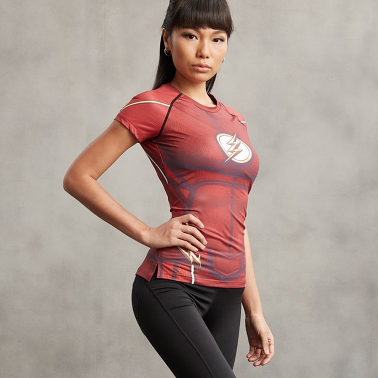 High compression t-shirt, made of high quality materials Treat yourself, or make this shirt the perfect gift on birthdays, anniversaries, retirement, or for no reason at all. Shop now on https://worldofheroez.com/product/flash-women-t-shirt/