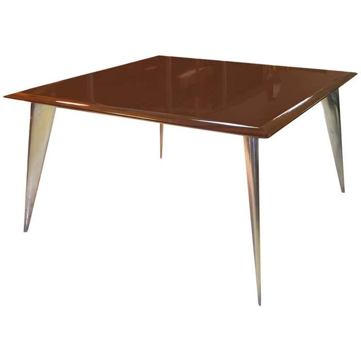 Philippe Starck Square Dining Table M (Serie Lang) from Aleph