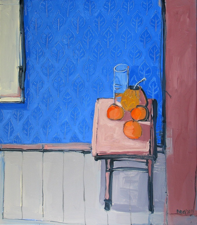 "Saatchi Online Artist: Robert Bubel; Oil, 2011, Painting ""The wall /Still life with matero I./"""