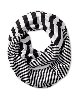 42% OFF Kate Spade Saturday Women's Two-Sided Loop Scarf, Black/Cream