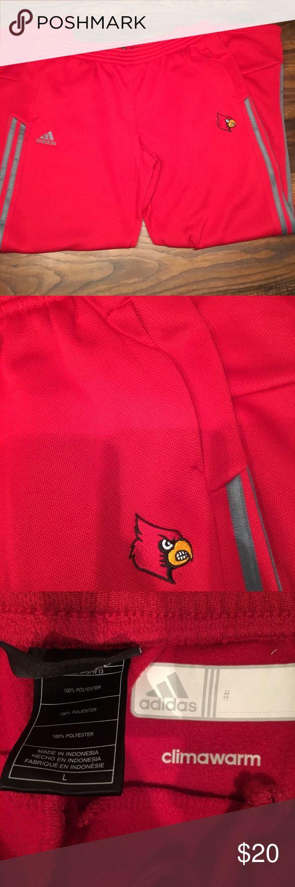 NWOT Men's Red Adidas Pants Large Sweatpants cardinals. With pockets adidas Pants Sweatpants & Joggers