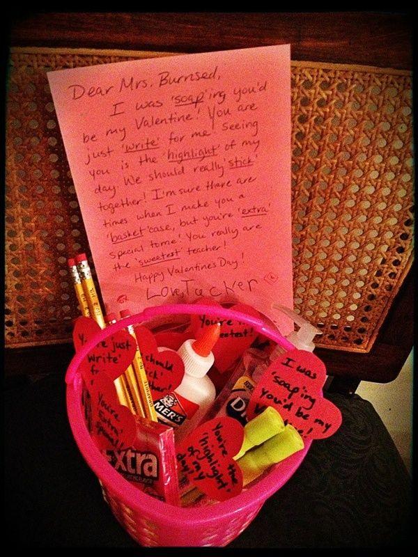 Valentines Day Teacher Gift Holidays Pinterest