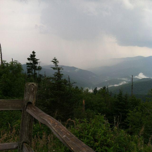 Overlook Near Clingman's Dome In North Carolina, Along The