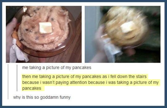 Look at my pancakes