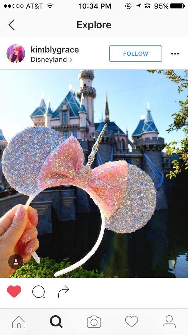 Unicorn mickey ears
