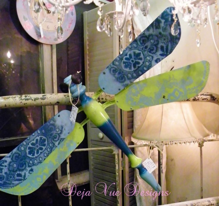 Dragonfly from table leg and ceiling fan blades. Lots of cool projects on this site.