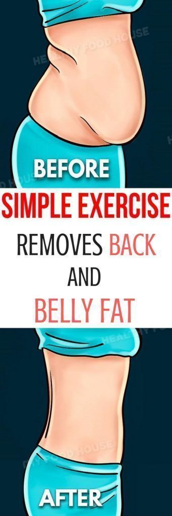This Simple Exercise Removes Back and Belly Fat in No Time! #weightloss #health #fitness