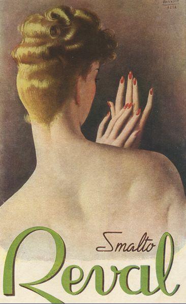 By Gino Boccasile (1901-1952), ca 1948, Smalto Reval. (I)