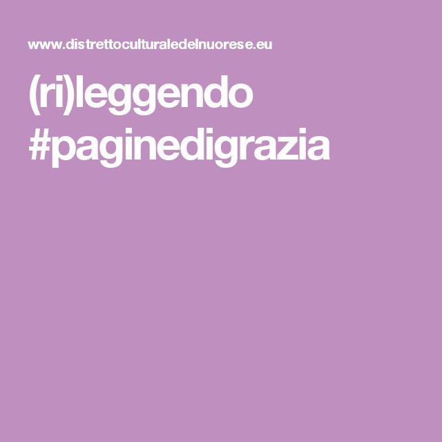 (ri)leggendo #paginedigrazia