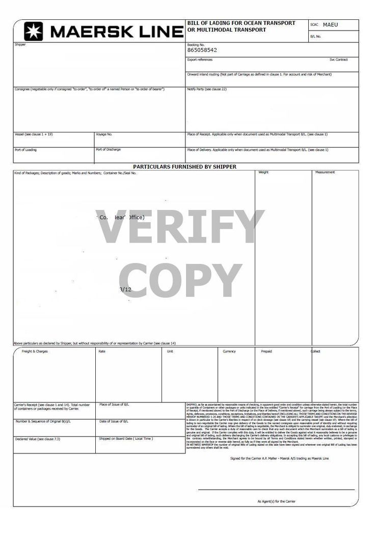 bill-of-lading-sample Incoterms Pinterest - blank bill of lading