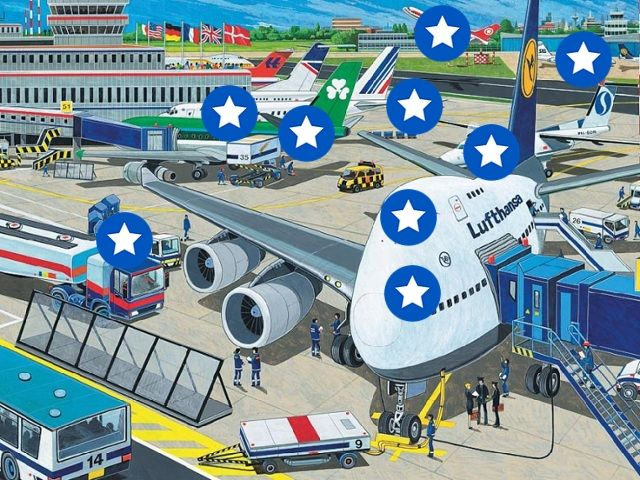 Het vliegveld. by ingrid