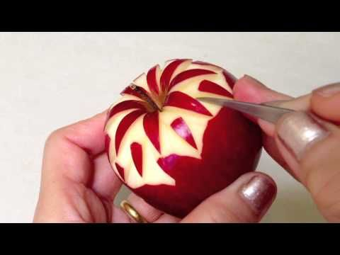 2013 Simple Apple Carving - Intermediate Lesson 2 by Mutita Art of Fruit & Vegetable Carving - YouTube