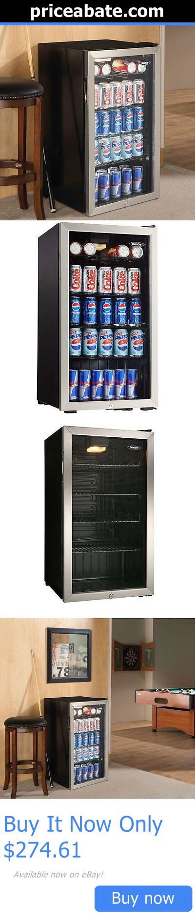 food and drink beverage cooler compact mini bar fridge beer soda pop glass door - Glass Door Mini Fridge