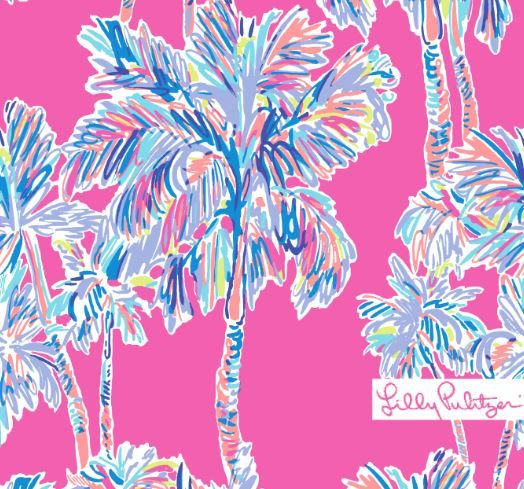 Lilly Pulitzer Flamingo Print Background