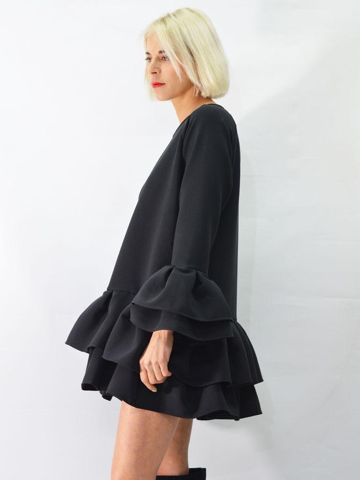 Sukienka Kylie Lalu CZERŃ AchVeverka #sukienka #czarna #małaczarna #lalu #achveverka