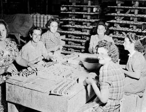 Crown Lynn workers preparing the iconic Railway Cup handles