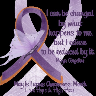 """""""Another one that I made. Like the other ones from my blog, this is on a clear background, the one with a white background for FaceBook is on the fan page of Love Hope & High Heels.""""  #lupus"""