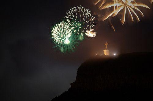 Cristo Rei - Lubango. Fireworks, New Year 2009/2010, Angola   Flickr - Photo Sharing!