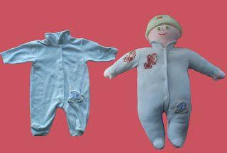 Realizzare una bambola con una tutina per neonato