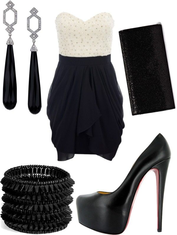 The dress is adorable but I would definitely do a little mix and match of color for the shoes and accessories.