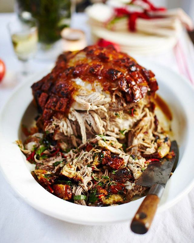 #Recipeoftheday is my epic slow-roast marmalade pork for all of you celebrating Canadian Thanksgiving tomorrow! It looks really impressive, but the beauty of this recipe is that it takes less than 5 minutes to get in the oven, then the rest of the morning is yours to enjoy. Big love to @sobeys my brilliant Food Revolution Community and to all you lovely lot enjoying the big day in Canada and all over the world. JO x #thanksgiving