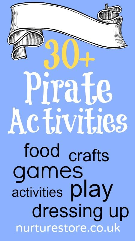 30+ pirate activities: lots of learning activities across all subjects, great resource for pirate theme lesson planning.