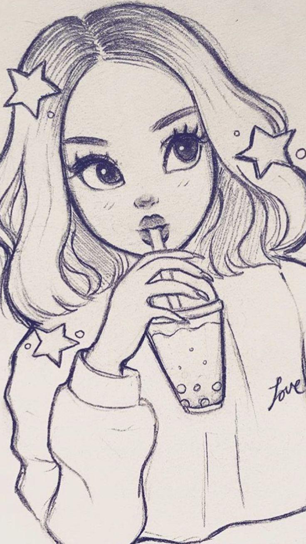 Картинки для срисовки карандашом прикольные для девочек 9 лет легкие