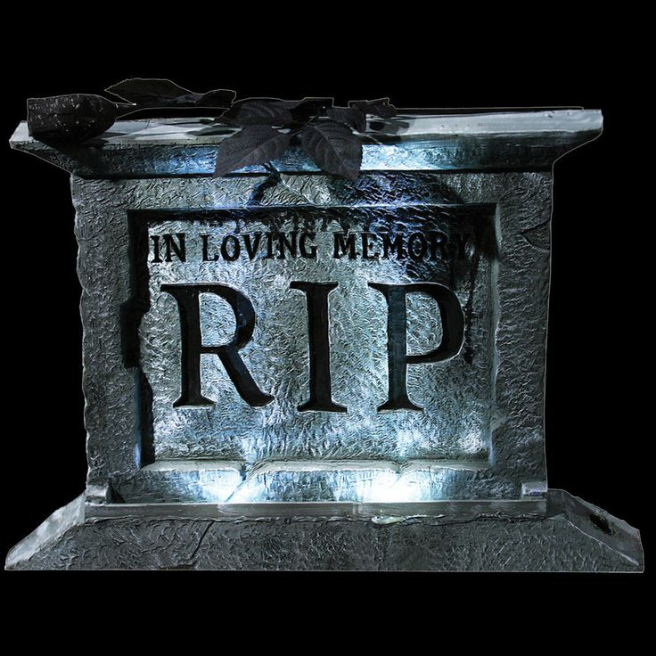 gothic light up rip tombstone pedestal halloween prop haunted house decoration ebay - Halloween Tombstone Decorations
