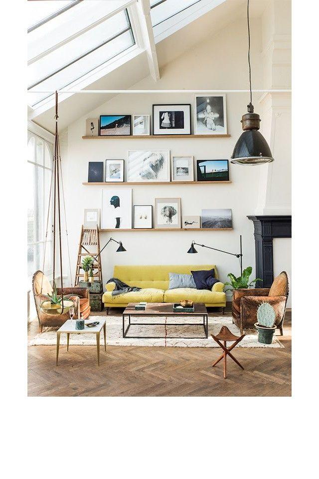 Un salon avec des meubles en cuir pinterest deco inspiration intérieur