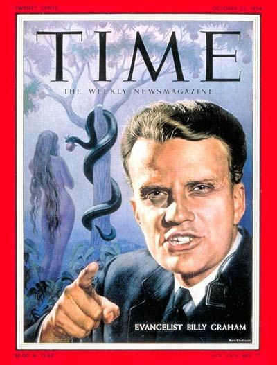 Billy Graham on the cover of Time Magazine