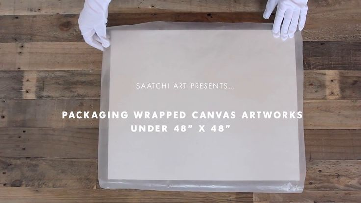 "Packaging Wrapped Canvas Artworks (Under 48"" x 48""). Produced by Saatchi Art  Music by Puro Instinct – dublab.com – freemusicarchive.org"