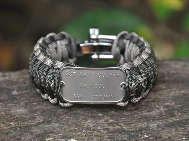 Here's an idea! Have a custom dogtag made to incorporate into your paracord bracelet. Include emergency info so your child cannot forget!