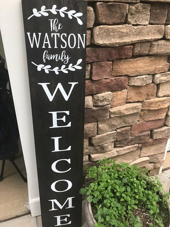 Welcome Sign Personalized Welcome Sign Front Porch Sign Porch Signs Front Porch Signs Wooden Welcome Signs