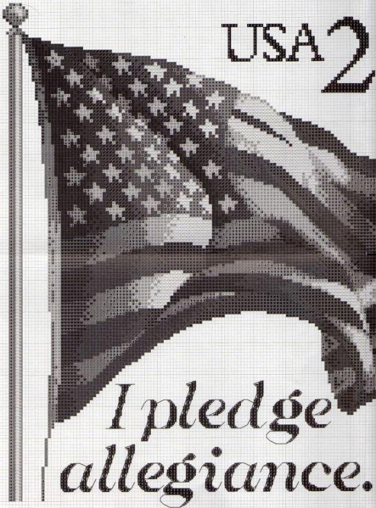 I Pledge Allegiance cross stitch chart. Gallery.ru / Фото #2 - Флаг США - DELERJE