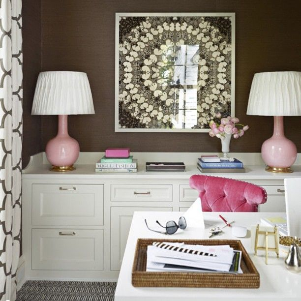 Chocolate Home Office Inspiration
