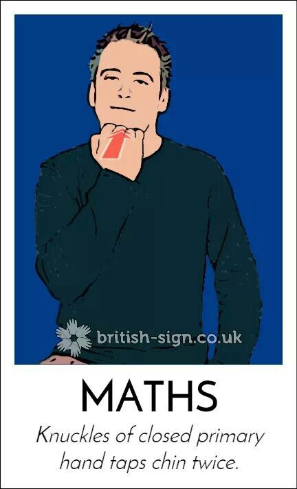 MATHS - British Sign Language (BSL)