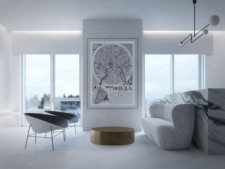 monochrome interior black & white graphic gubi videre licet marble bar michael anastassiades