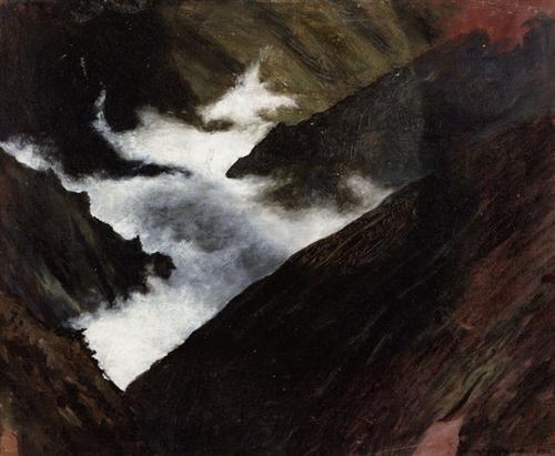 Mountain Stream in Caucasia - Hugo Simberg