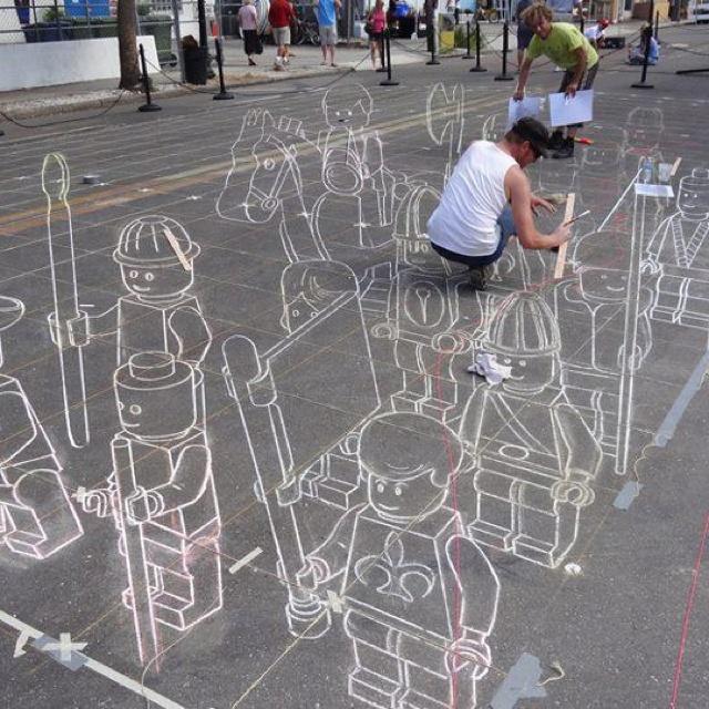 Sidewalk chalk art #art #chalk #street