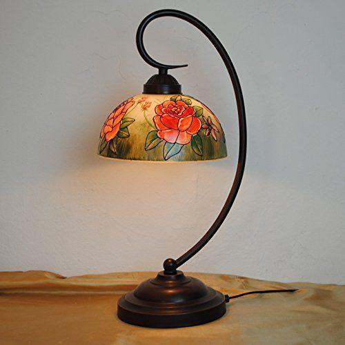 BBO 10 pollici pittura pesca protezione Tiffany lampada dell'occhio / per camera da letto comodino / den / soggiorno: Amazon.it: Fai da te