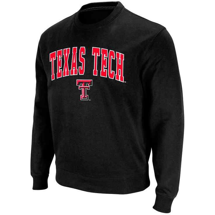 Texas Tech Red Raiders Stadium Athletic Arch & Logo Crew Pullover Sweatshirt - Black - $26.39