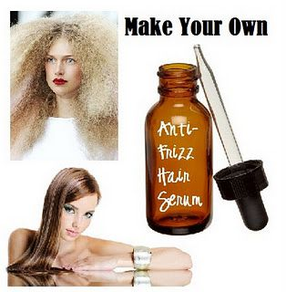 DIY anti-frizz hair serum