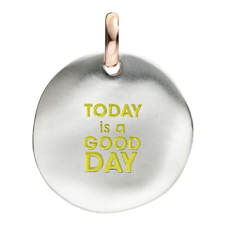 Ciondolo MONETA in argento e oro rosa 9k  Silver and 9k rose gold COIN civita present gift words values jewellery gioiello queriot