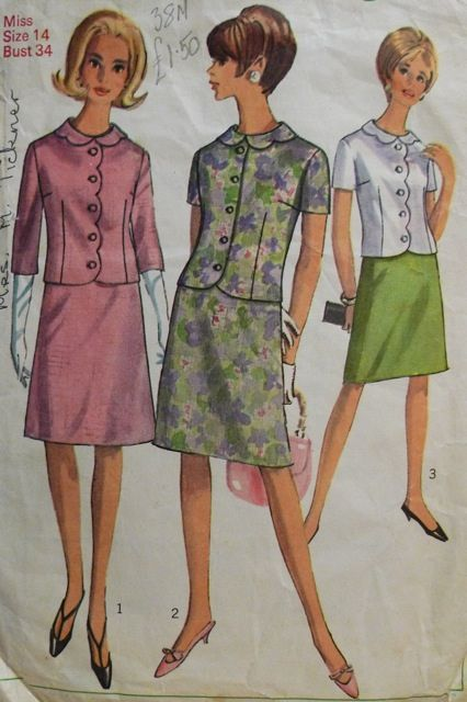 pattern of jacket: Fall Sewing, Dress Sewing Patterns, Suits Patterns, Vintage Suits, Two Pieces Dresses, Dresses Sewing Patterns, Dresses Patterns, Sewing Queue, Draper Suits
